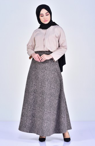 W.B Patterned Skirt 8903-03 Mink 8903-03