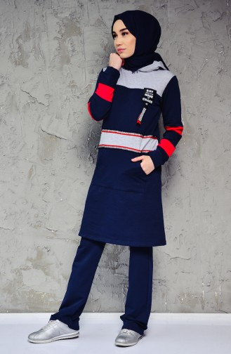 Tracksuit Suit 0398-02 Navy 0398-02