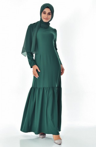 skirt Pleated Dress 7202-04 Emerald Green 7202-04