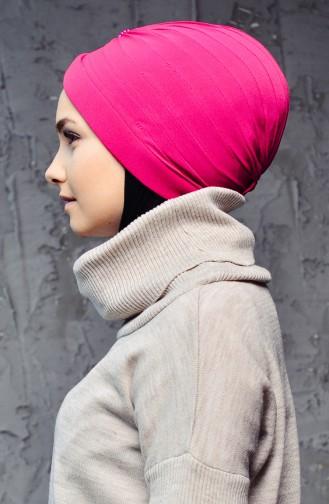 Bonnet Turban Prêt Perlés 1007-14 Fushia 1007-14