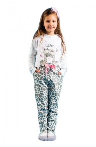 Printed Girls´ Pajamas Set 17KCP0007 Gray 17KCP0007