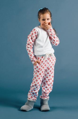 Ensemble Pyjama Enfant Fille 17KCP0010 Rouge 17KCP0010