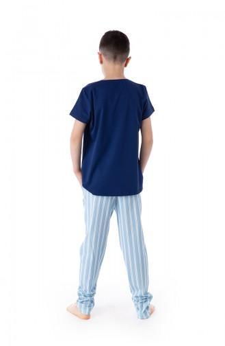Jungen Pyjamas Set B1803 Blau 1803