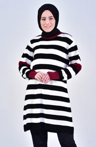 Knitwear Striped Sweater 4102-01 Black White 4102-01