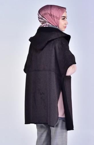 Hooded Poncho 3200-01 Smoked 3200-01