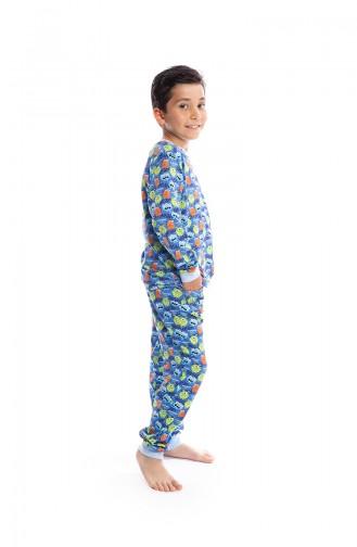Ensemble Pyjama Enfant Garçon B1811 Bleu 1811