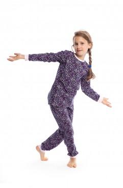 Desenli Kız Çocuk Pijama Takımı G1802 Pembe 1802 f05ec02ca