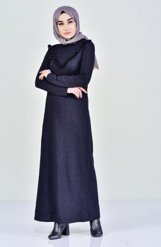 TUBANUR Ruffled Dress 2992-08 Anthracite 2992-08