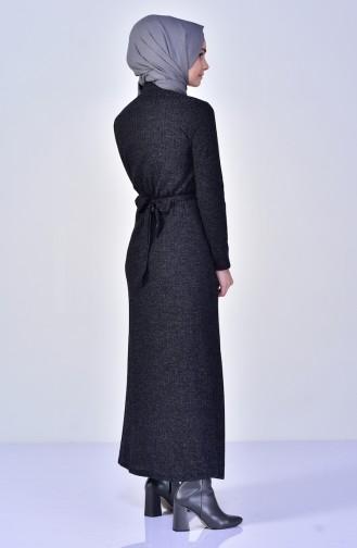 Anthracite Hijab Dress 1701-03