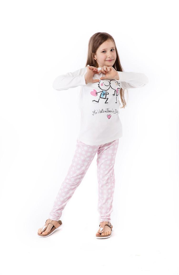 regard détaillé fournir beaucoup de 60% de réduction Ensemble Pyjama Pour Enfant Fille G1803 Rose 1803