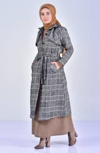 Khaki Long Coat 1260-02