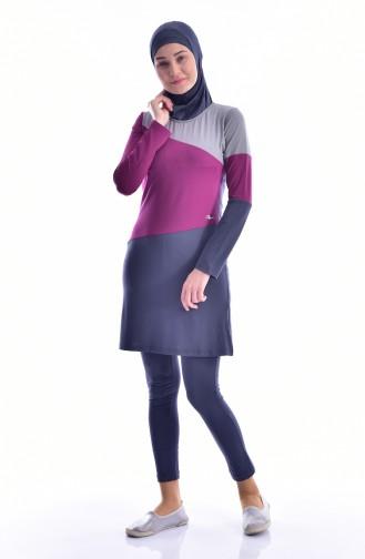 Anthrazit Hijab Badeanzug 262-01