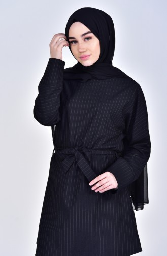 Belted Tunic 5006-02 Black 5006-02