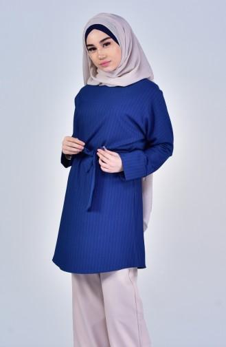 Belted Tunic 5006-01 İndigo 5006-01