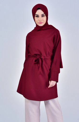 Belted Tunic 5006-03 Bordeaux 5006-03