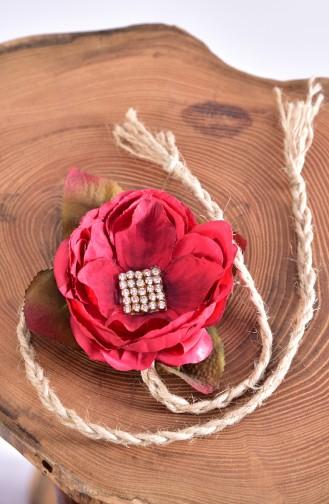 Claret red Bride s Bouquet 3