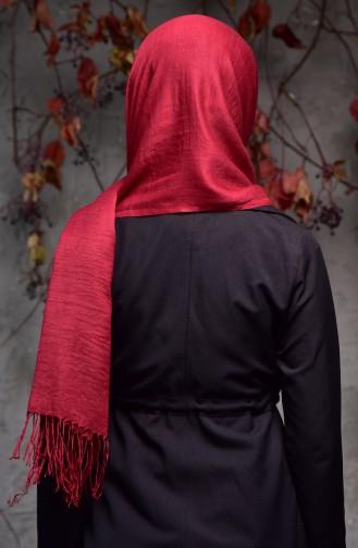 Plain Thin Pashmina Shawl 901405-27 Dark Red 901405-27