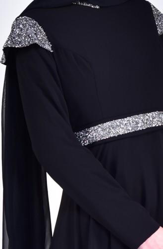 Stony Evening Dress 7078-02 Black 7078-02