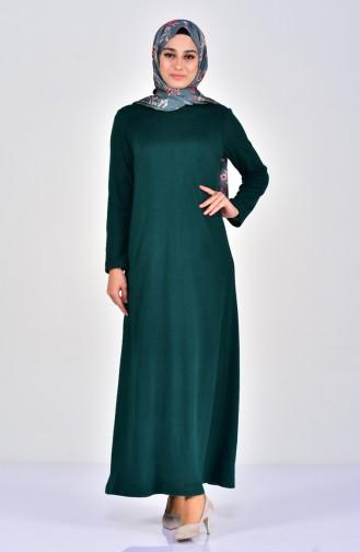 Robe Tricot 7218-02 Vert emeraude 7218-02