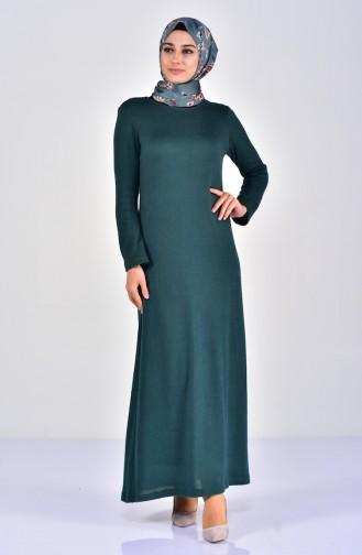 Triko Elbise 7218-05 Yeşil 7218-05