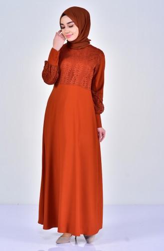 Dantelli Elbise 5011-01 Kiremit