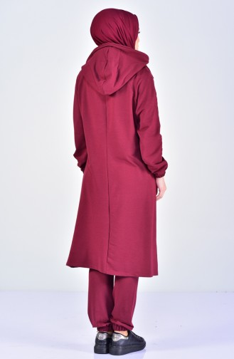 Claret red Sweatsuit 10265-01