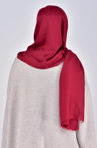 Plain Cotton Shawl 19045-03 Claret Red 19045-03
