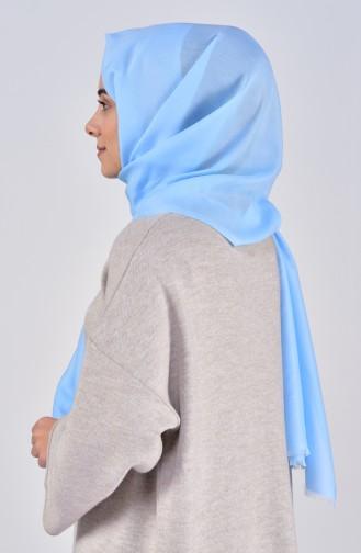 Plain Cotton Shawl 19045-09 Baby Blue 19045-09