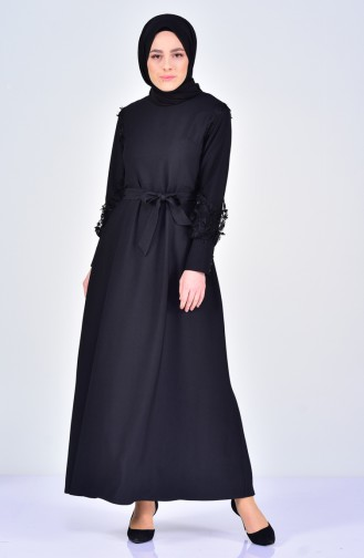 Laced Belted Dress 5012-01 Black 5012-01
