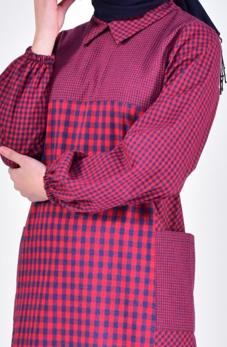 Claret red Dress 2029-01