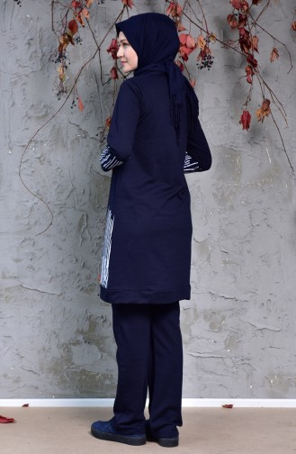 Navy Blue Sweatsuit 0395A-01