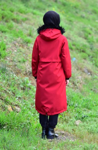 Furry Coat 6342-02 Claret Red 6342-02