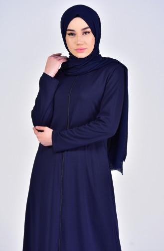 Navy Blue Abaya 0056-01