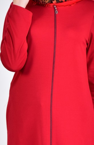 EFE Zippered Abaya 0056-04 Claret Red 0056-04