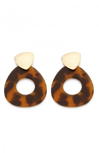 Womens Earrings Kp7515 Brown Yellow 7515