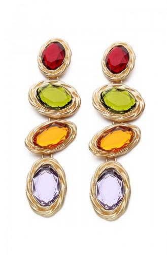 Multi Stone Earrings Kp7524 7524
