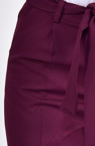 Pantalon a Ceinture 4002-04 Pourpre 4002-04