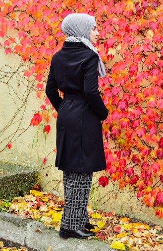 Pocketed Cachet Coat 5109-02 Black 5109-02
