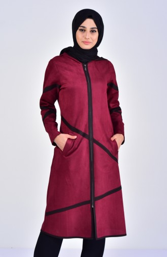 Hooded Suede Cape 5099-02 Damson 5099-02