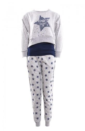 Women´s Pajamas Suit ı MAN9495-01 Gray 9495-01
