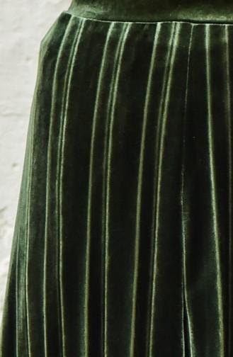 Jupe Velours Plissée 5203-04 Khaki 5203-04