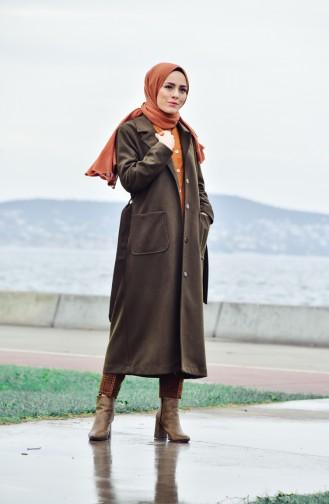 Belted Cachet Coat 5107-02 Khaki 5107-02