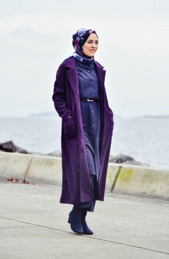 Belted Cachet Coat 5107-04 Purple 5107-04