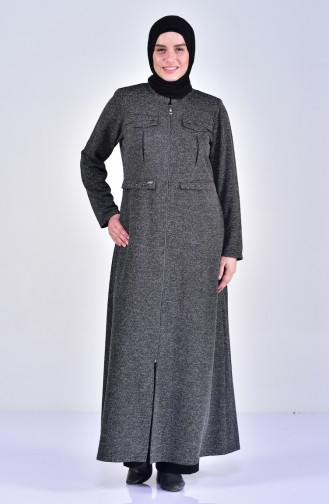 Pardessus Détail Poches Grande Taille 1070-03 Noir 1070-03