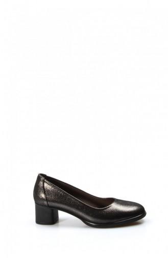 Fast Stepping Heeled Satin Shoes 889Za892 148 Black 889ZA892-16781532