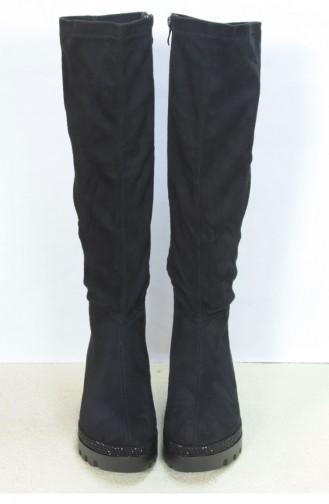Marjin Antaz Dolgu Boots Black Suede 18K02709203_002