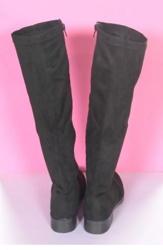 Marjin Arji Flat Boot Black Suede 18K0280OF18661_002