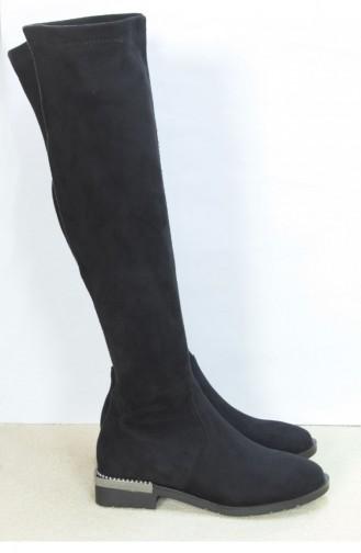 Marjin Vikan Flat Boot Suede Black 18K02809201_002