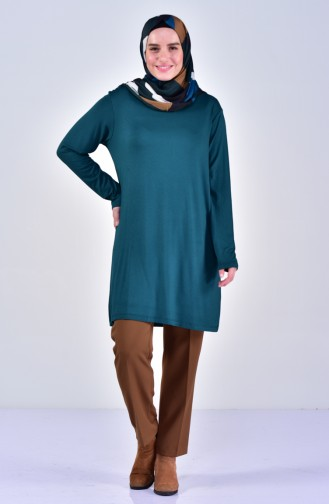 Plus size Combed Cotton Body  9001-10 Emerald Green 9001-10