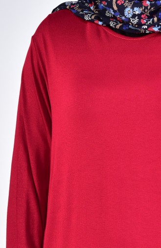 Plus size Combed Cotton Body 9001-12 Claret Red 9001-12